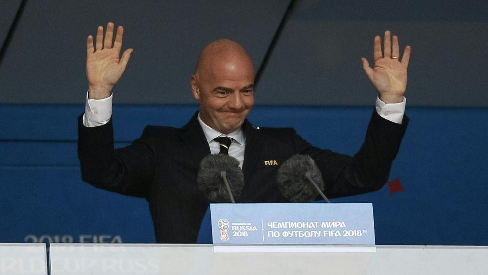 FIFA-Präsident Infantino ist mit dem VAR hochzufrieden - Bildquelle: PIXATHLONPIXATHLONSID