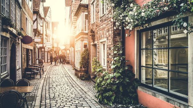 Bremen Romantik Sommer Gasse Fotolia