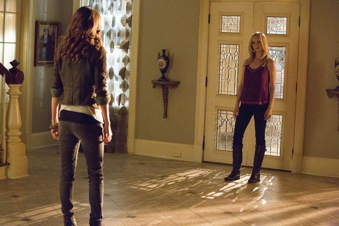 Als Caroline (Candice Accola, r.) Nadja (Olga Fonda, l.) auf frischer Tat ertappt, gerät die Situation vollkommen außer Kontrolle ... - Bildquelle: Warner Brothers