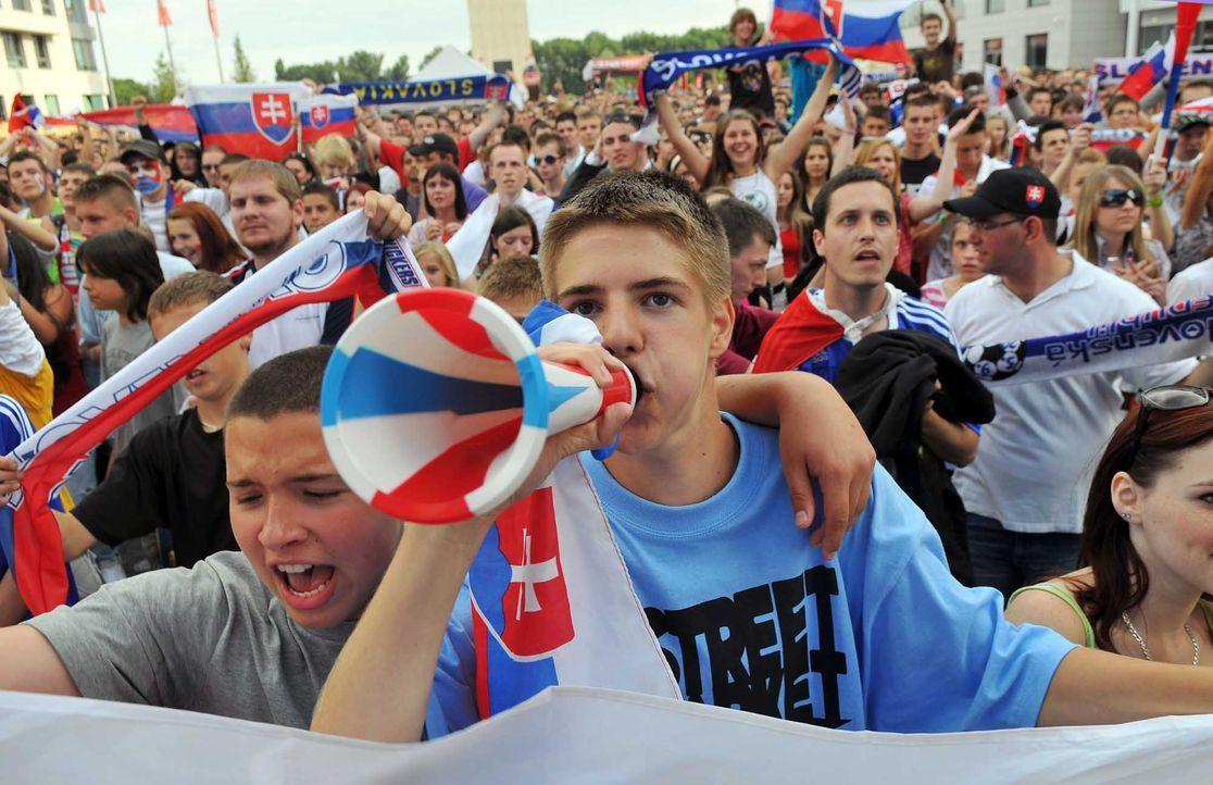 Fußball-Fan-Slowakei-151008-AFP - Bildquelle: AFP