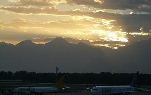 Ein Blick auf den Flughafen in Antalya