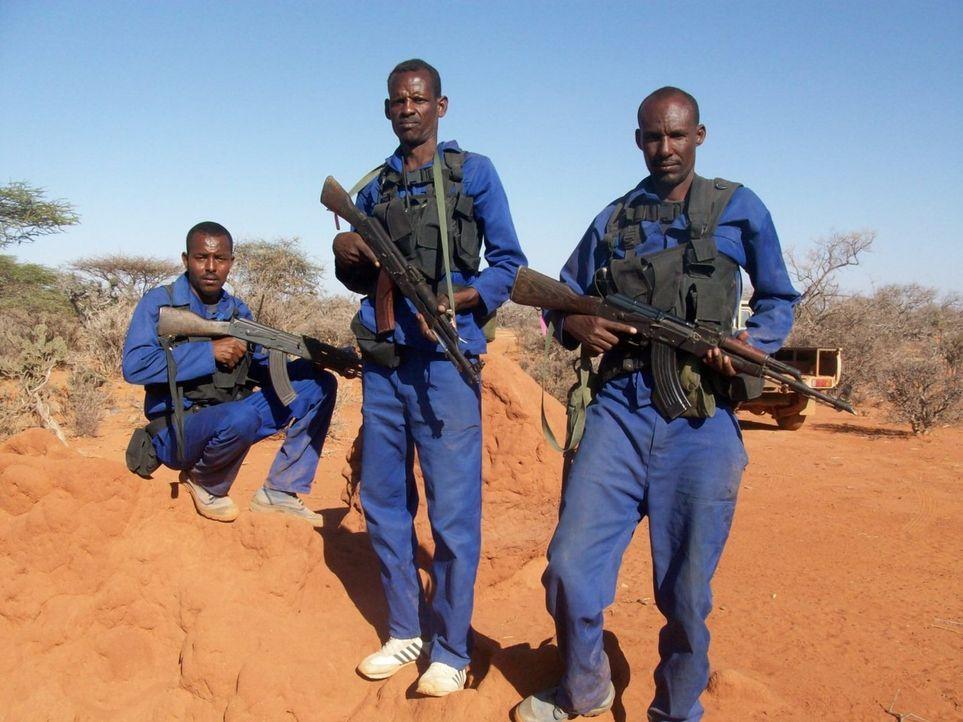 Die Mitglieder des PMPF-Trupps wurden von den somalischen Behörden beauftragt, gegen die Piraten sowohl auf See als auch an Land vorzugehen und 22 S... - Bildquelle: Sam Kaunda Eyeline Entertainment