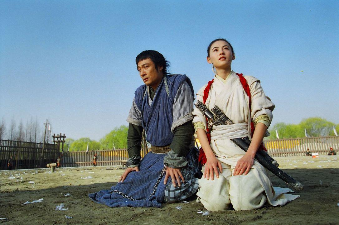 """Eigentlich wollte """"White Dragon"""" (Cecilia Cheung, r.) den berüchtigten Auftragskiller """"Chicken Feathers"""" (Francis Ng, l.) töten, doch nach mehrere... - Bildquelle: 2004 China Star Worldwide Distribution B.V. All Rights Reserved."""