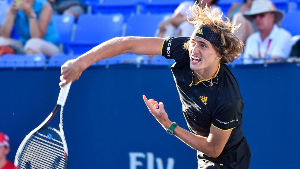 Tennisprofi Alexander Zverev steht im Viertelfinale - Bildquelle: Getty Images