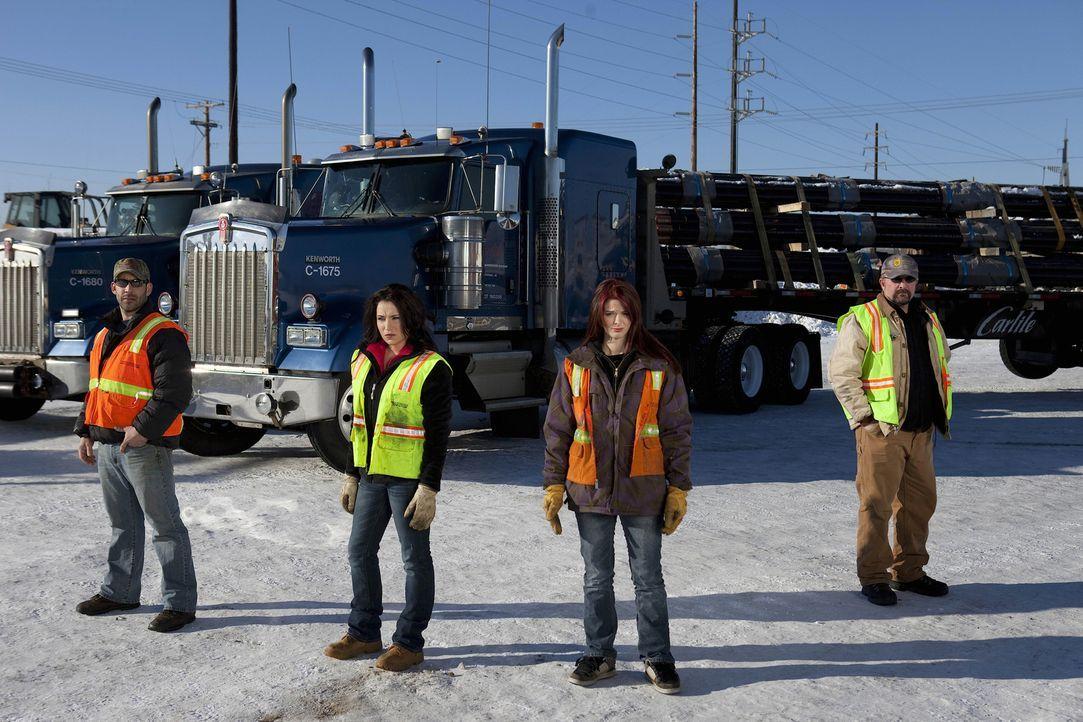 (5. Staffel) - Ein lebensgefährlicher Job: Die Ice Road Truckers trotzen Winterstürmen und der klirrenden Kälte Nordamerikas, um mit riskanten Trans... - Bildquelle: 2011 A&E Television Networks.   All Rights Reserved.