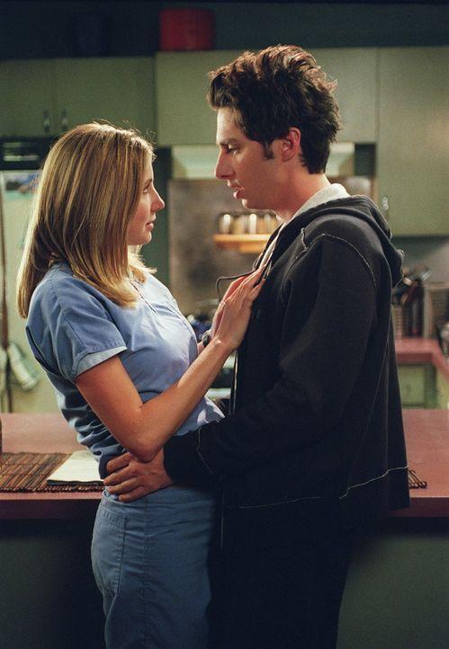 Endlich ist es soweit: J.D. (Zach Braff, r.) und Elliot (Sarah Chalke, l.) verbringen ihre erste gemeinsame Nacht. Doch schon am nächsten Tag müssen... - Bildquelle: Touchstone Television