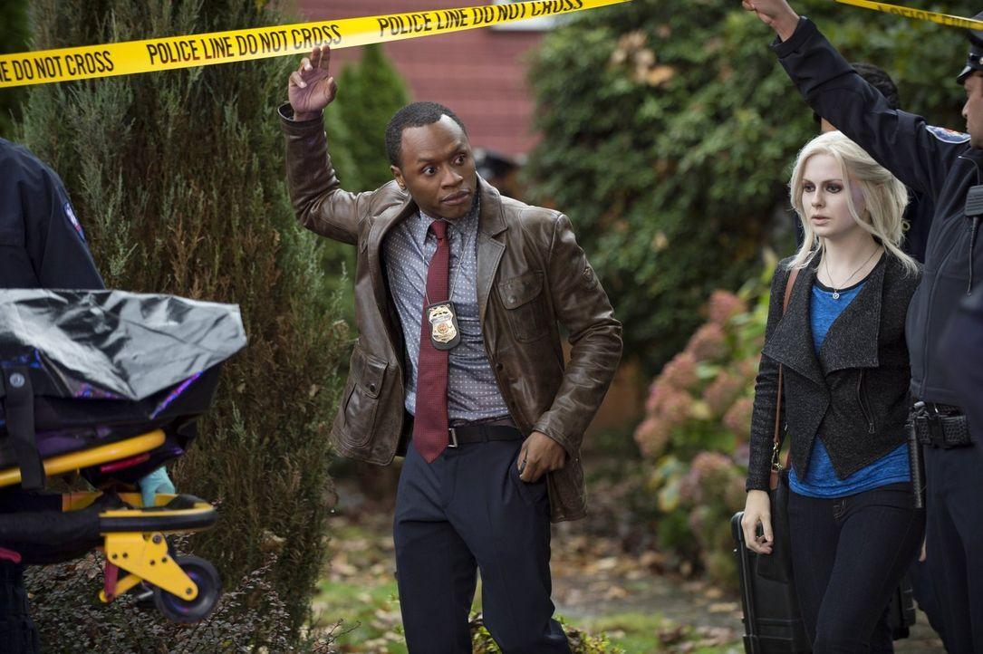 Während Clive (Malcolm Goodwin, l.) sich mit Ermittlungen zu einem mysteriösen Todesfall in große Gefahr begibt, versucht Liv (Rose McIver, r.) sich... - Bildquelle: Warner Brothers
