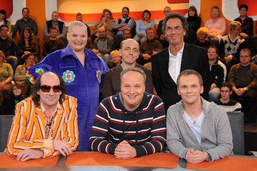 V.l.n.r. Guildo Horn, Hella von Sinnen, Bernhard Hoëcker, Oliver Welke, Hugo...