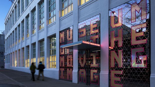 Das Filmmuseum Museum of the Moving Image befindet sich in New York City auf...