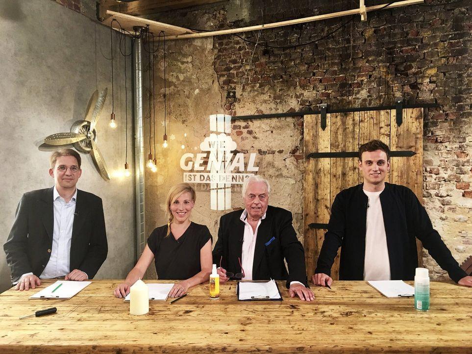 (v.l.n.r.) Dr. Rolf Claessen; Fränzi Kühne; Horst Veit; Dr. Leon Windscheid - Bildquelle: SAT.1