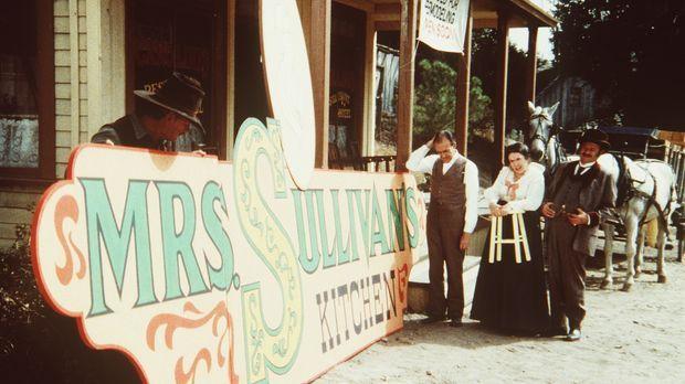 Für ihr neues Schnellrestaurant bekommen Nels (Richard Bull, 3.v.r.) und Harr...