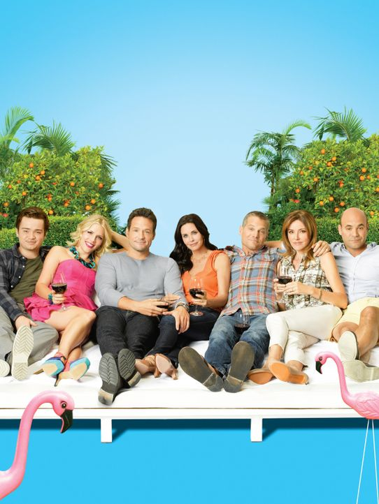 (3. Staffel) - Die Clique verbringt gern Zeit miteinander (v.l.n.r.): Travis (Dan Byrd), Laurie (Busy Philipps), Grayson (Josh Hopkins), Laurie (Bus... - Bildquelle: 2011 American Broadcasting Companies, Inc. All rights reserved.