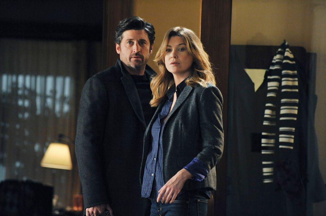 Während Derek (Patrick Dempsey, l.) nach Wochen von Meredith (Ellen Pompeo, r.) erfährt, dass sie eine Fehlgeburt hatte, muss Alex mit Bailey kämpfe... - Bildquelle: ABC Studios
