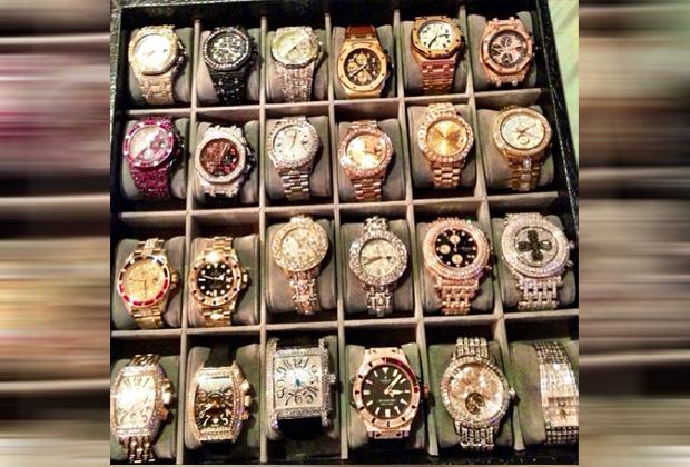 Mayweathers Uhrensammlung - Bildquelle: Instagram/Mayweather
