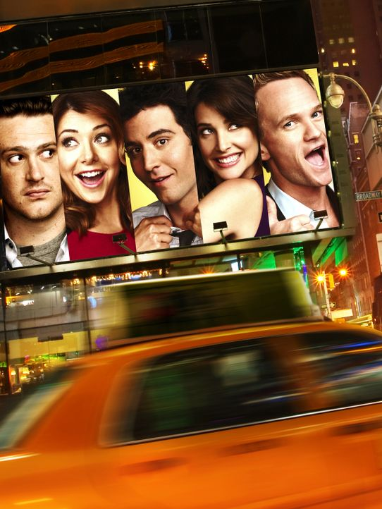 (8. Staffel) - how i met your mother: Ted (Josh Radnor, M.), Marshall (Jason Segel, l.), Barney (Neil Patrick Harris, r.), Lily (Alyson Hannigan, 2.... - Bildquelle: 2012-2013 Twentieth Century Fox Film Corporation. All rights reserved.
