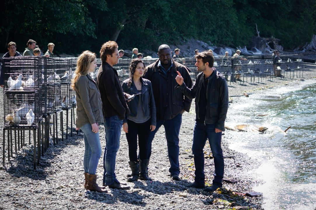 Das gesamte Team (v.l.n.r.) Jamie (Kristen Connolly), Mitch (Billy Burke), Dariela (Alyssa Diaz), Abraham (Nonso Anozie) und Jackson (James Wolk) is... - Bildquelle: Shane Harvey 2016 CBS Broadcasting Inc. All Rights Reserved.