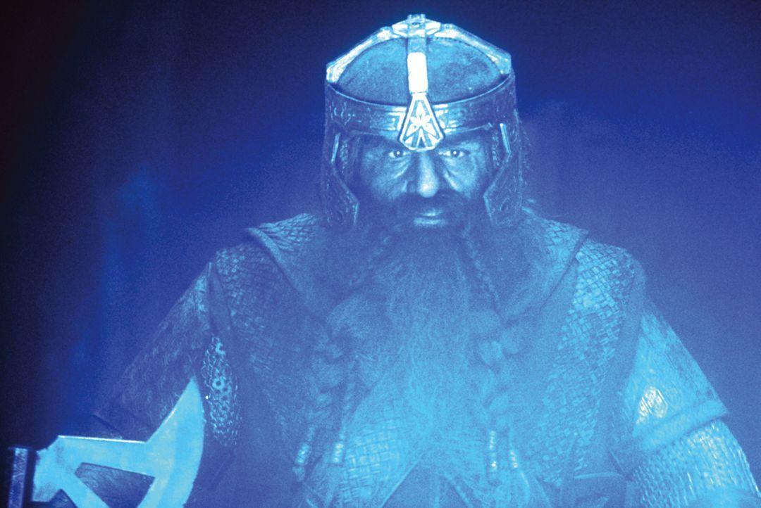 Der Zwerg Gimli (John Rhys-Davies) ist einer der neun Gefährten, die den Ring nach Mordor bringen sollen ... - Bildquelle: Warner Brothers
