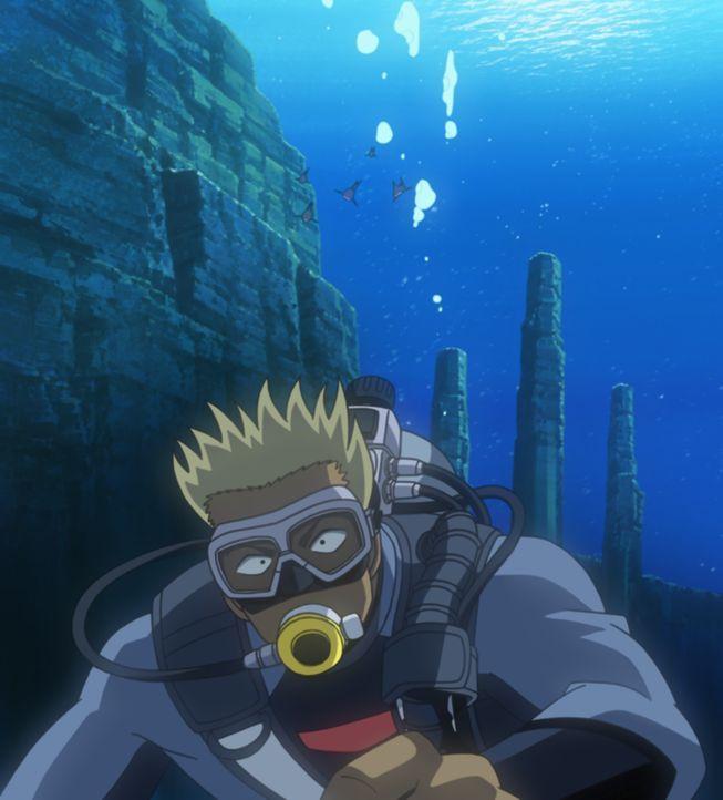 Auf der Insel Komi-jima sind dank verschiedener Mythen viele Schatzsucher unterwegs, von denen Conan und seine Gruppe auch einige kennenlernen. Doch... - Bildquelle: 2003 GOSHO AOYAMA / SHOGAKUKAN-YTV-NTV-ShoPro-TOHO-TMS All Rights Reserved.