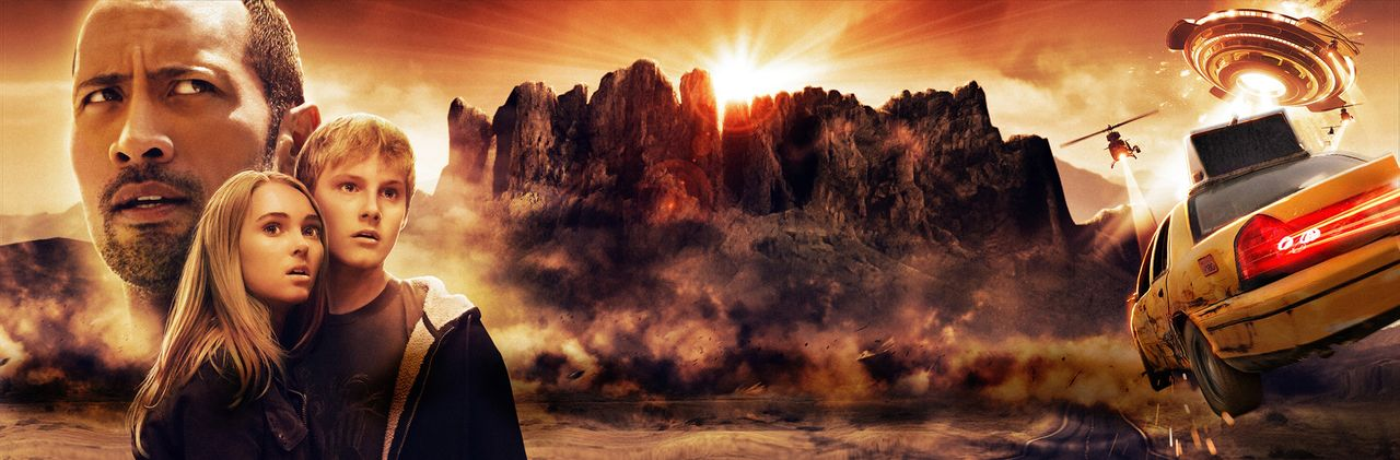 Die Jagd zum magischen Berg - Artwork mit (v.l.n.r.) Dwayne Johnson, AnnaSophia Robb, Alexander Ludwig - Bildquelle: Disney Enterprises, Inc.  All Rights Reserved