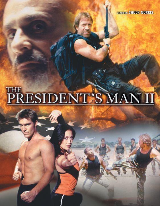 McCord (Chuck Norris, oben r.), Deke Slater (Judson Mills, unten l.) und Que McCord (Jennifer Tung, unten r.) wollen den Terrorist Abdul Rashid (Joe... - Bildquelle: CBS Television
