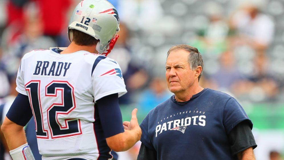 Fokussiert: Bill Belichick und Tom Brady. - Bildquelle: imago/Icon SMI