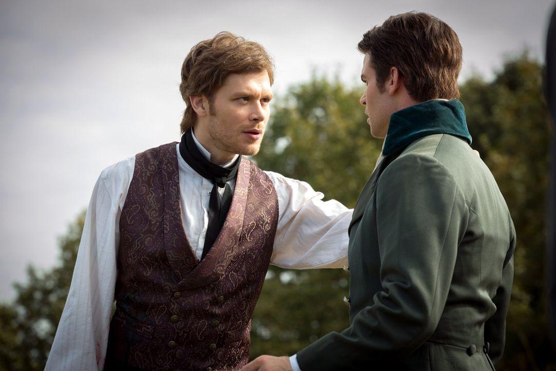 Auch, wenn Klaus (Joseph Morgan, l.) und Elijah (Daniel Gillies, r.) immer wieder gegeneinander antreten, kämpfen sie doch im Notfall zusammen ... - Bildquelle: Warner Bros. Television