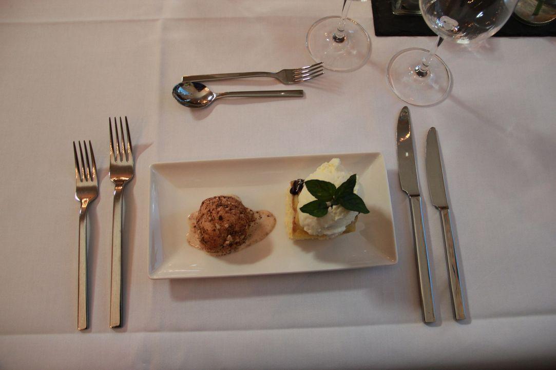 Auch beim Dessert muss alles perfekt sein, damit die Testesser überzeugt werden ... - Bildquelle: kabel eins