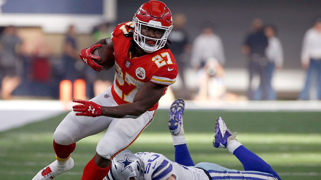 Platz 7: Kareem Hunt (Kansas City Chiefs) - Bildquelle: 2017 Getty Images