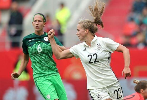 Tabea Kemme erzielte zwei Tore gegen die Sloweninnen