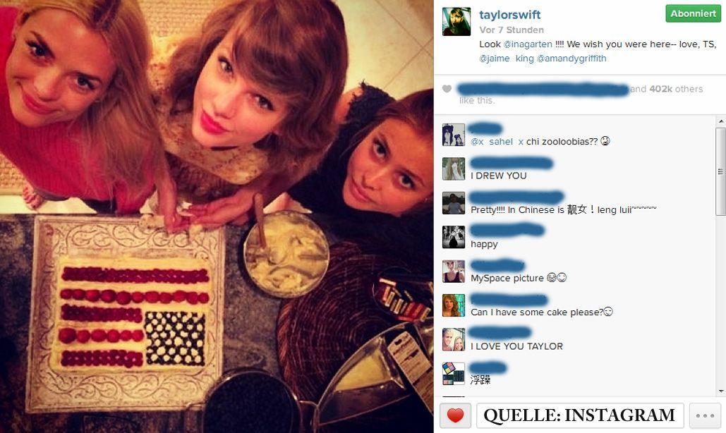 Schnappschuss-Taylor-Swift-instagram - Bildquelle: Instagram/taylorswift