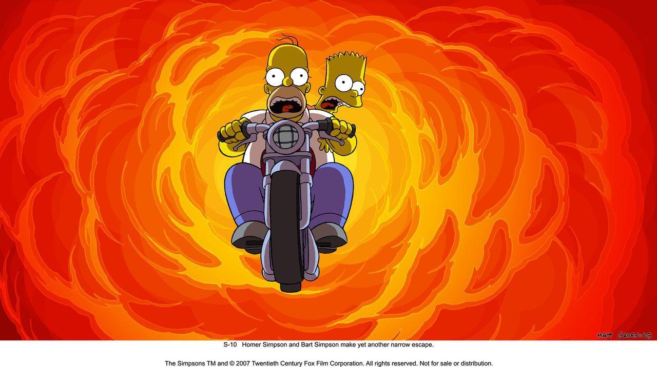 Ein gnadenloser Wettlauf mit der Zeit beginnt: Können Homer und Bart die Stadt Springfield vor der Zerstörung durch die Regierung bewahren? - Bildquelle: 2007 Twentieth Century Fox Film Corporation