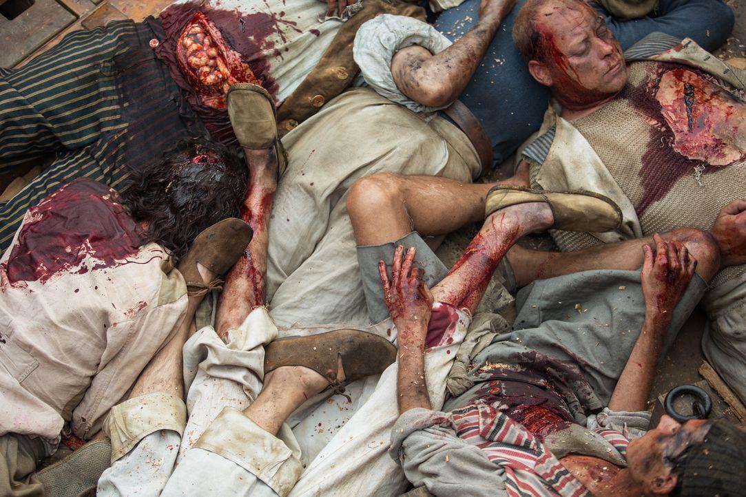 Die angeblichen Feinde der Menschheit, die Piraten, sorgen für Tod und Verderben ... - Bildquelle: 2013 Starz Entertainment LLC, All rights reserved