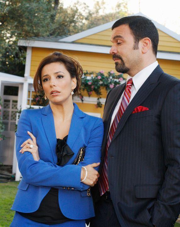 Während Susan ein besonderes Erbe bekommt, müssen sich Gabrielle (Eva Longoria, l.) und Carlos (Ricardo Antonio Chavira, r.) mit ihrer Herkunft ause... - Bildquelle: ABC Studios
