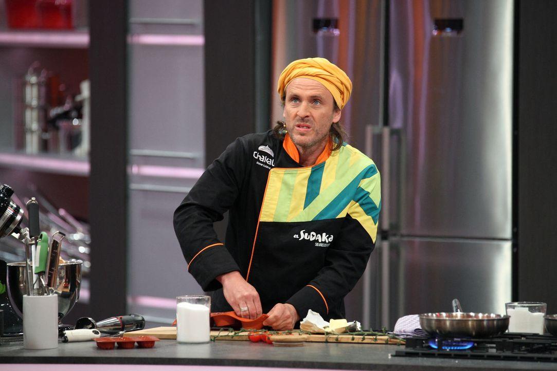 Wird dem argentinischen Koch Chakall seine Internationalität helfen gegen einen Hobbykoch und dessen Gerichteauswahl? - Bildquelle: Frank Hempel SAT.1
