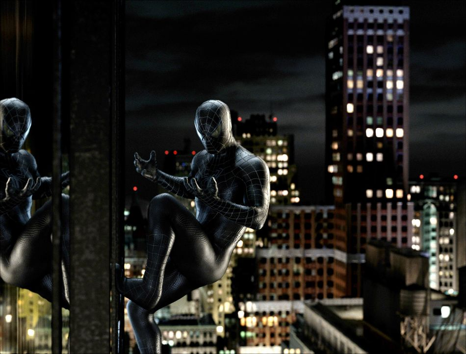 Als sich Spider-Mans Anzug plötzlich pechschwarz verfärbt, werden ihm auch neue, ungeahnte Kräfte verliehen. Allerdings verändert der Farbwechsel au... - Bildquelle: 2007 Marvel Characters, Inc.  2007 CPII. All Rights Reserved.