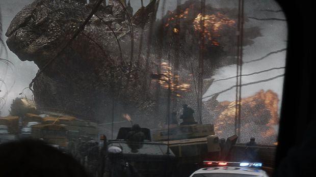 Für die Menschheit gibt es nur noch eine Hoffnung auf Rettung: Godzilla! © 20...
