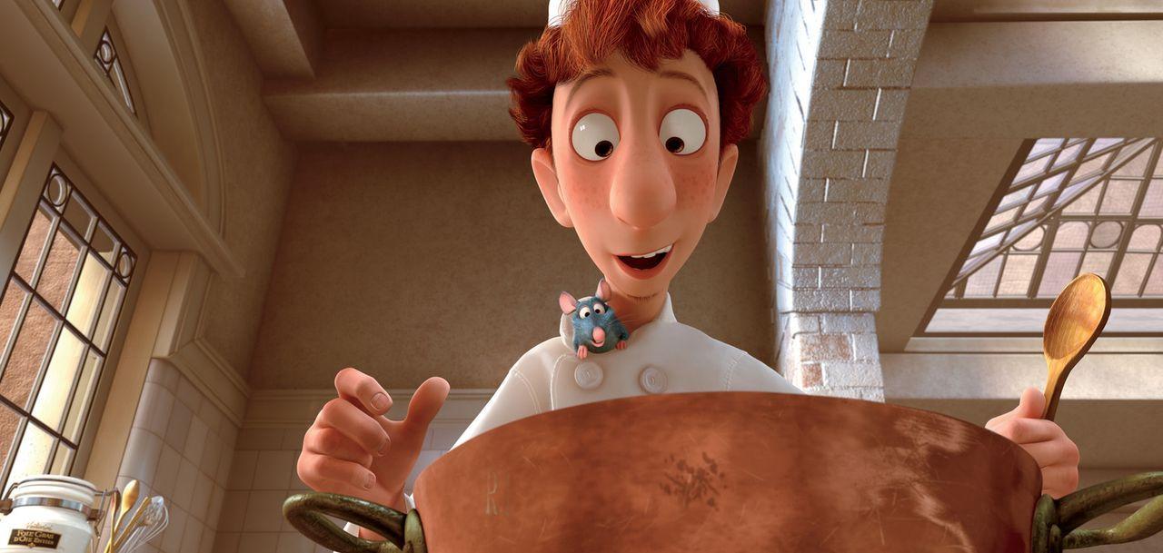 Die Feinschmecker-Ratte Remy verbündet sich mit dem unbegabten Linguini und verhilft ihm so zum Ruhm eines Starkochs. Doch schon bald tauchen erste... - Bildquelle: Disney/Pixar.  All rights reserved