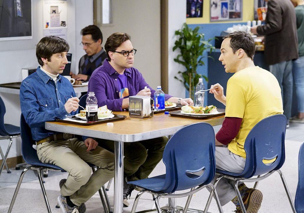 Müssen sich Howard (Simon Helberg, l.), Leonard (Johnny Galecki, M.) und Sheldon (Jim Parsons, r.) damit abfinden, dass ihre Freundschaft mit Raj in... - Bildquelle: Warner Bros. Television
