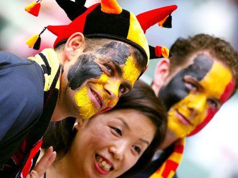 Die besten belgischen Fans - Bildquelle: AFP