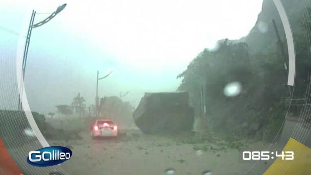 Erdrutsch in Taiwan