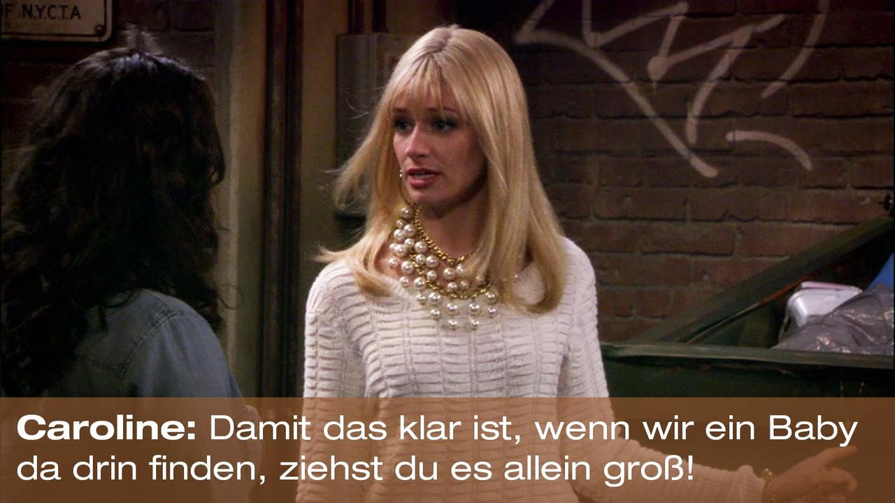 2-broke-girls-zitat-staffel1-episode-21-steuersumpf-caroline-baby-warnerpng 1600 x 900 - Bildquelle: Warner Brothers Entertainment Inc.