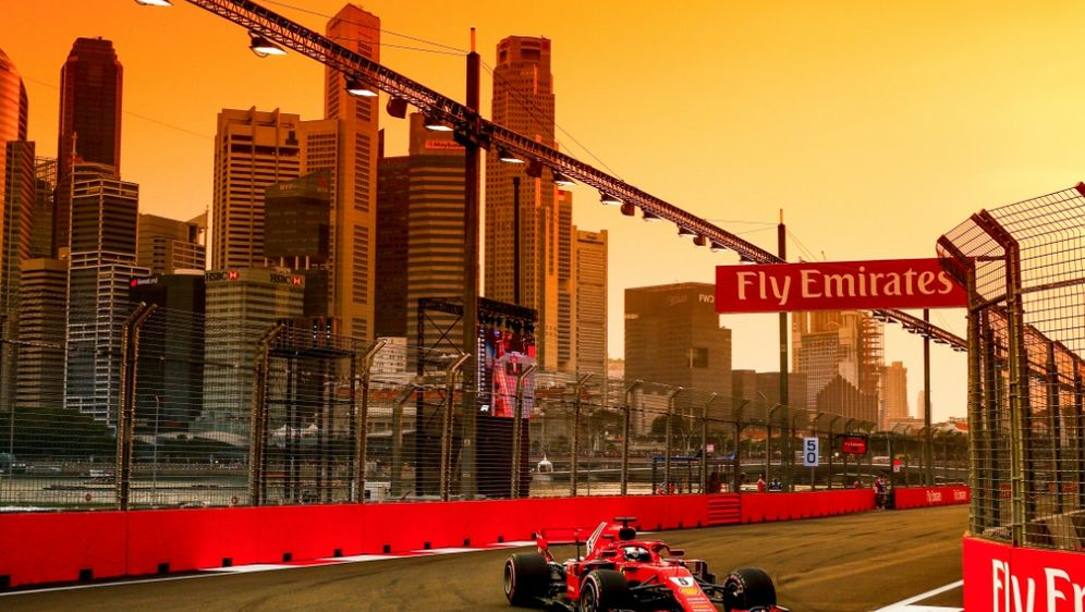 Sebastian Vettel gewann in Singapur eine Position - Bildquelle: PIXATHLONPIXATHLONSID