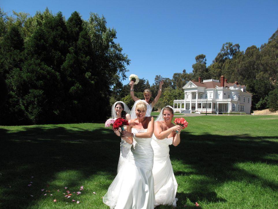 Noch verstehen sich Natalie (l.), Julie (vorne), Stacey (hinten) und Brittany (r.) gut ... - Bildquelle: Richard Vagg DCL