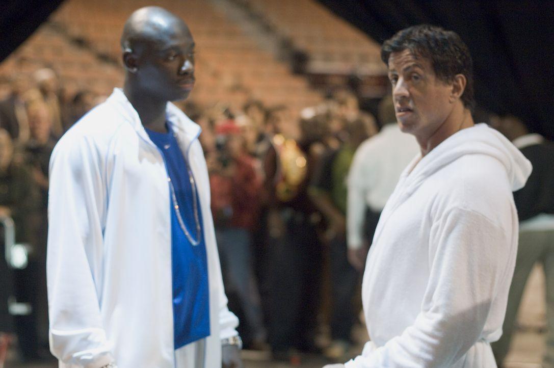 Der Box Champion Rocky Balboa (Sylvester Stallone, r.) hat längst die Handschuhe an den Nagel gehängt. Seit dem Tod seiner geliebten Frau schwelgt e...