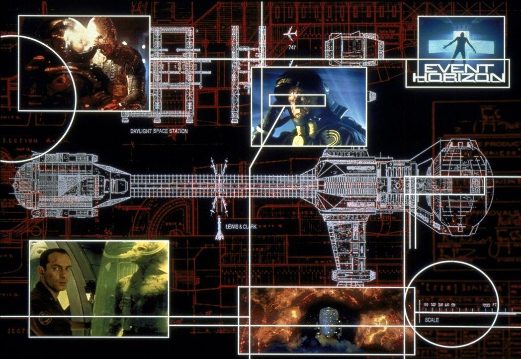 Dank des genialen Gravitationsantriebs soll das Raumschiff Event Horizon in Sekundenbruchteilen von einem Ende des Universums ans andere reisen. - Bildquelle: Paramount Pictures