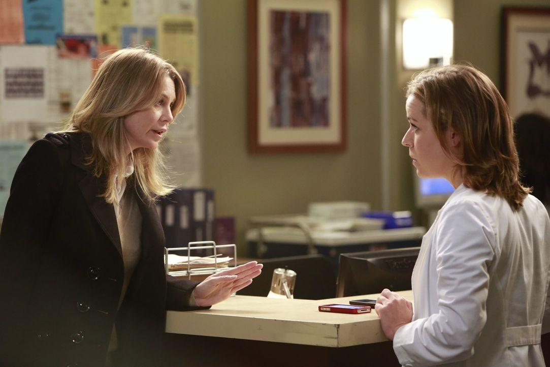 Während Cristina einen Wettbewerb zwischen Stephanie und Leah auslöst, der zu einem medizinischen Notfall führt, möchte Meredith (Ellen Pompeo, l.),... - Bildquelle: ABC Studios