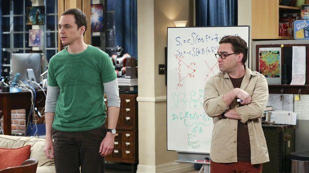 Sheldon (Jim Parsons, l.) hat einen Ohrwurm, der ihn in den Wahnsinn treibt,...