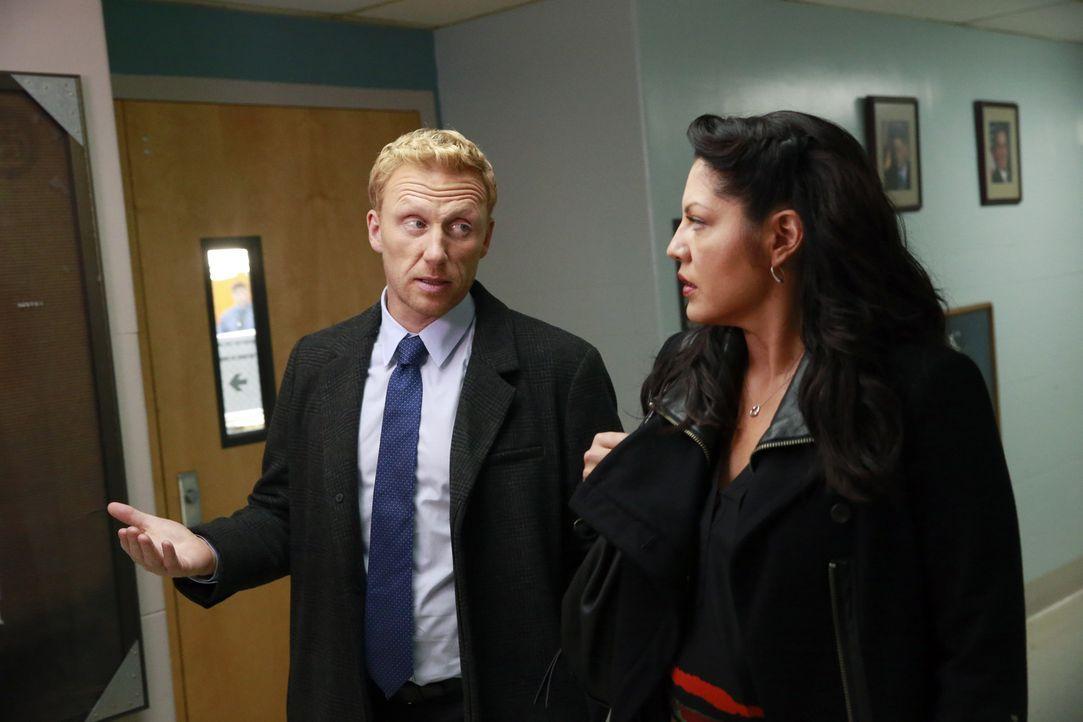 Der völlig begeisterte und motivierte Owen (Kevin McKidd, l.) versucht alles, umCallie (Sara Ramirez, r.) mit ins Boot eines Hilfsprojekts zu holen.... - Bildquelle: ABC Studios