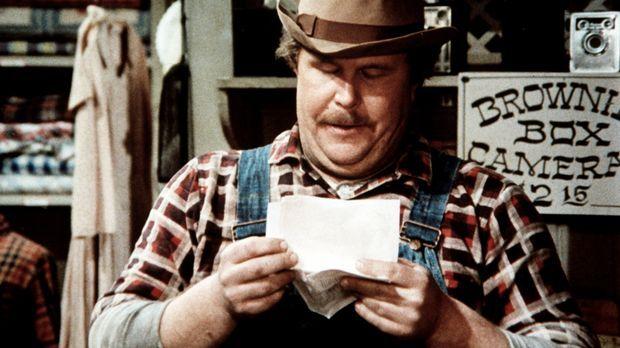 Curtis Norton (Ned Beatty), der Schmied von Waltons Mountain, ist überglückli...