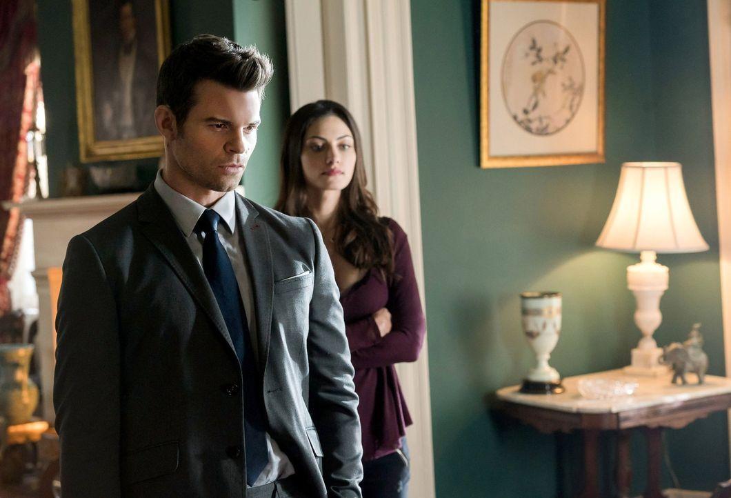 Während Hayley (Phoebe Tonkin, r.) sich vor allem um das Wohl ihrer Tochter sorgt, will Elijah (Daniel Gillies, l.) unter keinen Umständen den Mord... - Bildquelle: Warner Bros. Entertainment, Inc